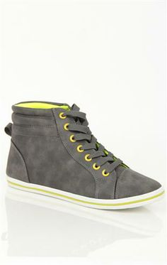 brand new b2b36 667af Deb Shops two-tone high top  sneaker  20.90 Deb Shops, Dream Shoes,