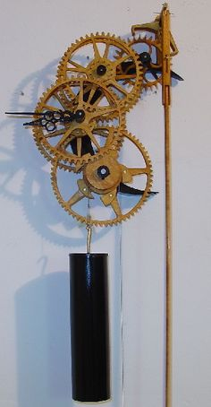 Clock swinging repair pendulum