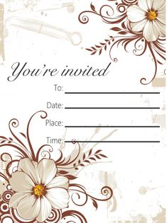 Printable Invitations Party Free Printable Invitations, Party Printables, Party Invitations, Free Printables, Youre Invited, Sign I, Place Card Holders, Fun, Cards