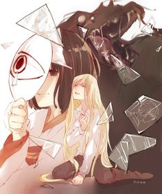 Nora & Bishamon   Noragami /// looks like the Bishamon's arc is going to end at Yato's arc is going to start!!///
