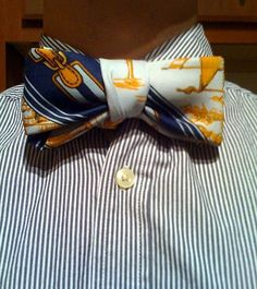 How To: Tie a Traditional Necktie into a Bow Tie, No Cutting or Sewing Required » Man Made DIY | Crafts for Men « Keywords: tie, clothing, fashion, neck