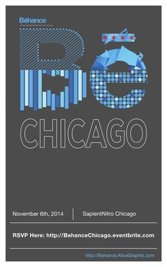 Behance Chicago Fall 2014 Poster #BehanceReviews #Be_Chicago
