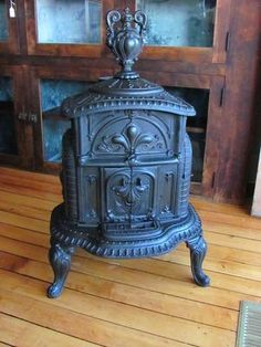 Vintage pot belly stove.