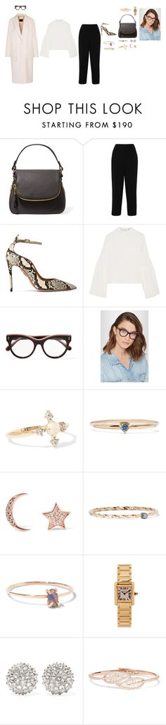 """Untitled #992"" by amyjonez on Polyvore featuring Tom Ford, Prada, Aquazzura, Rejina Pyo, STELLA McCARTNEY, Catbird, WWAKE, Aamaya by Priyanka, Maria Black and Melissa Joy Manning"
