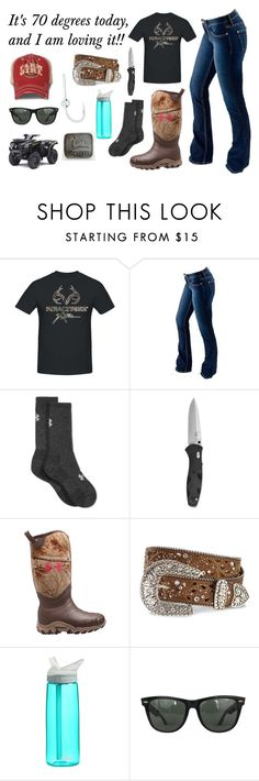 """Feeding Pigs"" by im-a-jeans-and-boots-kinda-girl ❤ liked on Polyvore featuring Realtree, Bullet, Under Armour, CamelBak, Ray-Ban and John Deere"