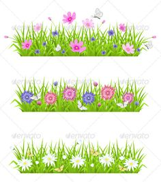 Realistic Graphic DOWNLOAD (.ai, .psd) :: http://jquery-css.de/pinterest-itmid-1003158652i.html ... Green Grass and Flowers ...  backdrop, background, banner, border, butterfly, chamomile, cosmos, decorative, design, floral, flower, grass, green, nature, plant, spring, summer, vector  ... Realistic Photo Graphic Print Obejct Business Web Elements Illustration Design Templates ... DOWNLOAD :: http://jquery-css.de/pinterest-itmid-1003158652i.html