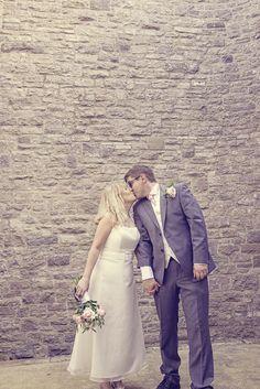 Durlston Castle wedding bride and groom photograph Wedding Couples, Wedding Bride, Wedding Venues, Wedding Dresses, Photographers, Groom, Castle, Vintage Fashion, Wedding Photography