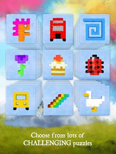Dream of Pixels - dozens of puzzles! Challenging Puzzles, Dawn, Challenges, Play, Games, Plays, Gaming, Game, Toys