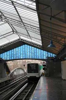 Judy Ledgerwood Stained Glass in Paris Metro Station