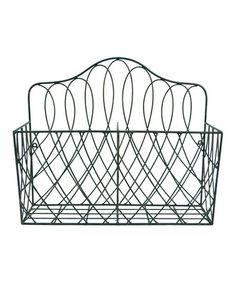 Another great find on #zulily! Black Wire Basket #zulilyfinds