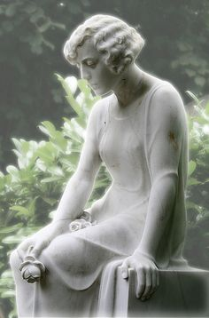 Achingly tender and beautiful statue in the Melaten Cemetery, Cologne.