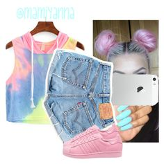 """""""With You ~ Drake 6ix"""" by mamiyanna ❤ liked on Polyvore featuring Levi's and adidas"""