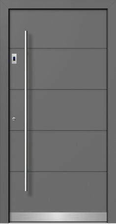Flush Door Design, Door Gate Design, Modern Wooden Doors, Internal Wooden Doors, Wooden Front Door Design, Wooden Front Doors, Black Interior Doors, Door Design Interior, Aluminium Front Door
