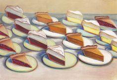 Wayne Thiebaud (b. 1920) | Sixteen Pies | 20th Century, Drawings ...
