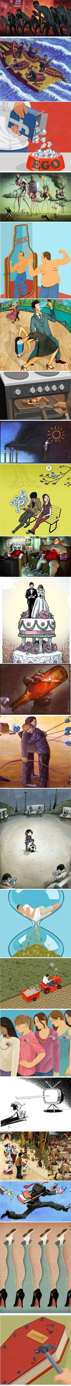 20 illustrations which prove that the world is a crazy place