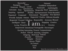"""I am..."" poster by Kaneisha Grayson of Kaneisha.com featuring positive affirmations submitted by readers."