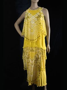 "Zandra Rhodes beaded silk dress, late 1970s. Featuring the ""Mexican Turnaround"" print."