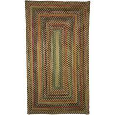 Sandy Rock Braided Rectangle Rug, Multicolor
