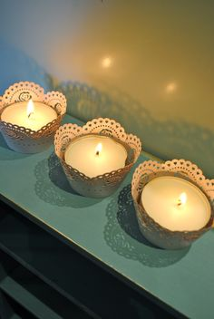 Beach Vintage: Project Day: Cake Wrapper Candles