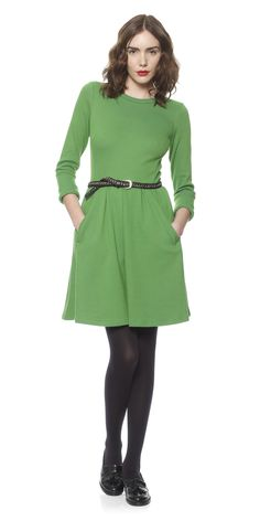 love the spring green of this whistles dress