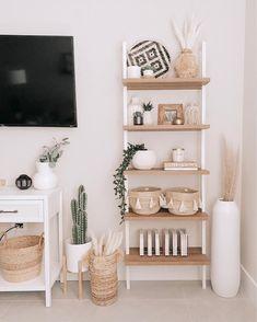 Boho Living Room, Living Room Decor, Shelf Ideas For Living Room, Room Ideas Bedroom, Bedroom Decor, Aesthetic Room Decor, Cozy Room, Room Inspiration, Console Table
