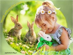 Veľkonočný pozdrav Child Love, Mother And Child, Avatar, Gif Photo, Animation, Belle Photo, Cute Girls, Photos, Pictures