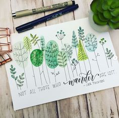 More greenery coming at cha! Played around with some more shapes and leaves. Loving the combo of a mono line drawing with watercolor… Bullet Journal Art, Bullet Journal Inspiration, Watercolor Inspiration, Botanical Line Drawing, Watercolor And Ink, Watercolor Journal, Doodle Art, Painting & Drawing, Hand Lettering