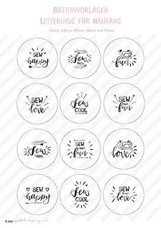 Love Sewing, Lettering, Diy Ideas, Button, Happy, Pattern, Fun, Print Templates, Stencils