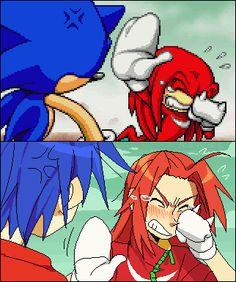 Sonic and Knuckles Gijinkas