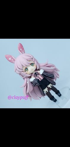 Chibi, Polymer Clay, Rabbit, Anime, Art, Bunny, Art Background, Rabbits, Bunnies