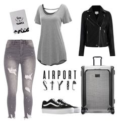 """Gray"" by lillav ❤ liked on Polyvore featuring Vans and Tumi"