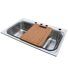 """American Standard Single-Basin Topmount Stainless Steel Kitchen Sink Has removable 2nd sink, colander and cutting board.33""""L x 22""""W x 9""""D  - $177.45 at Lowes"""