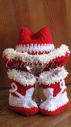 Newborn Baby Crochet Cowboy Hat   Boots Photo by CUTESTBABIES 928866f3fbb4