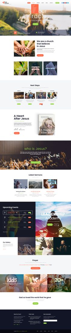 Free Church is a clean and light Church& Charity WordPress Theme. It is created for church, prayer group, Christian volunteering, believer community. Also it is nice for God leadership academy and non-profit organization.
