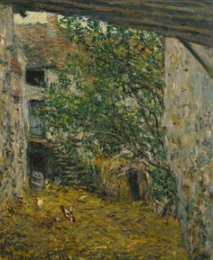 Cour de ferme (C Monet - W 494),1878.