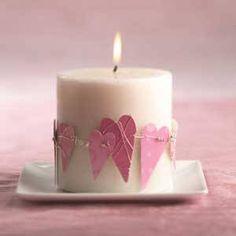 Decora le candele con la carta