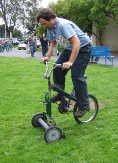 Peddle Mower by Earthworm, via Flickr