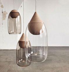 """Liuku"" Hand-Blown Glass Pendant Light - TRNK"