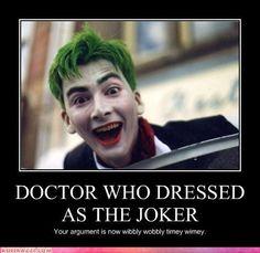 David Tennant dressed as the joker