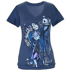 ''My Beloved'' Sally and Jack Skellington Tee for Women