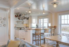 Kitchen. Coastal Kitchen Design. This coastal kitchen is perfect for a cottage or smaller home. #Cottage #Kitchen #CoastalKitchen
