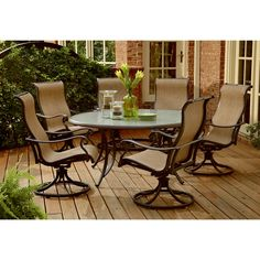 Check Out Agio Panorama 7 Pc Round Gl Dining Set Yourway