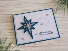 Star Christmas card made with Star of Light Bundle from Stampin' Up!