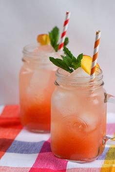 Peach Raspberry Lemonade Spritzer via @April @foodnfocus