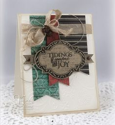 Card by Julee Tilman using Unto Us from Verve.  #vervestamps