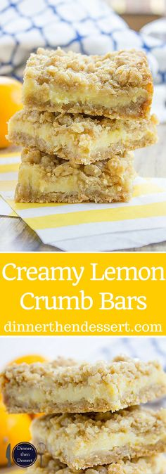 Easy Creamy Lemon Crumb Bars