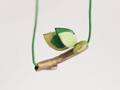 naszyjnik nature z brązu + zielenie w patchu na DaWanda.com