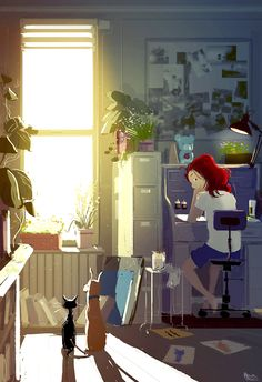 I love this artist... who illustrates the glorious small moments of life. Pascal Campion