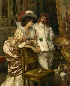 A Visit to the Studio. Federico Andreotti (Italian, 1847-1930). Oil on canvas