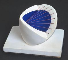 Dame Barbara Hepworth 'Sculpture with Colour (Deep Blue and Red)', 1940 © Bowness, Hepworth Estate Modern Art Sculpture, Abstract Sculpture, Plaster Sculpture, Metal Sculptures, Stone Sculpture, Garden Sculpture, Barbara Hepworth, Action Painting, Art Plastique